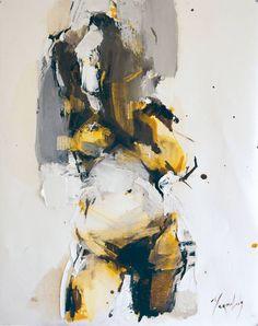Iryna Yermolova (b. 1978, Ukraine, resides Dorset, England) - Hair Wash, Sketch 2  Paintings: Oil on Canvas