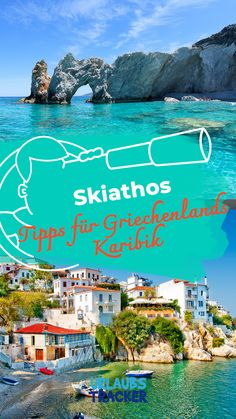 Skiathos Tipps: Urlaub in Griechenlands Karibik For your next vacation in Greece's Caribbean, the trendy island of Skiathos, I have some travel tips ready for you so you don't miss the most beautiful places! Read my vacation tips! Portugal Vacation, Greece Vacation, Travel Around The World, Around The Worlds, Thermal Pool, Portugal Holidays, Greece Holiday, Van Life, Countryside