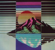 Vaporwave Okinawa T-shirt Art Et Illustration, Illustrations, Pixel Art, Swatch, New Retro Wave, Collages, Oeuvre D'art, Psychedelic, Pop Art