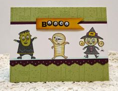 Stampin' Up! Googly Ghouls handmade Halloween card