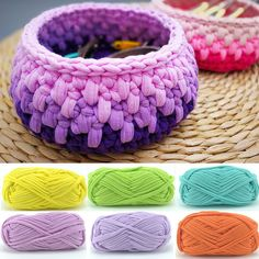 30 m Doux Tissu De Laine Épais Fils à Tricoter Chenil Crochet tapis tapis diy de stockage sac à main tissu tissu fantaisie fil 100g