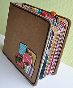 Chunky kraft card and bright colours