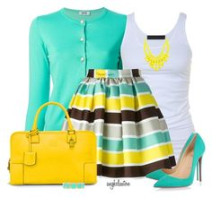 A fashion look from March 2015 featuring Moschino Cheap & Chic cardigans, Tusnelda Bloch tops and MSGM skirts. Browse and shop related looks. Classy Outfits, Chic Outfits, Look Fashion, Womens Fashion, Fashion Trends, Look Blazer, Work Attire, African Fashion, Spring Summer Fashion