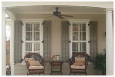 I like the shutters and what they add to the whole look. Image detail for -House Shutters Exterior Ideas / Best Photos and Pictures of Home . House Paint Exterior, Exterior House Colors, Exterior Shutters, Louvered Shutters, Black Shutters, Window Shutters, Beige House Exterior, Pallet Shutters, Outdoor Shutters