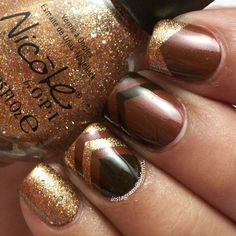 Chocolate inspired nails, nail art.  Used all Nicole by OPI polishes.