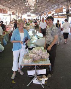 Martha Stewart at The Market in Antibes.