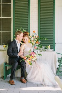 Everyone loves a good neutral and greenery bouquet, but when photographer Kati Mallory asks you to complete her flower power vision for a bright and summery southern elopement, you make it happen! Nothing screams summer like some bright, punchy blooms! It's like sangria in flower form. It doesn't take much to make a wedding feel personal. Some thoughtful table settings, unique invitations, and signature blooms makes wedding magic every time! Orange Wedding, Floral Wedding, Wedding Bouquets, Summer Wedding Invitations, Wedding Planner, Unique Invitations, Wedding Color Schemes, Wedding Colors, Getting Ready Wedding