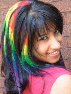10 pack  Multi Colored RAINBOW HAIR EXTENSIONS by NewtonHairJewels, $55.00