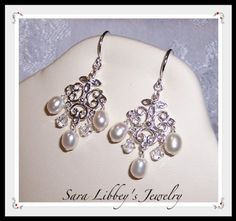Romantic Wedding Day Freshwater Pearl Sterling by Saralibbey, $25.00