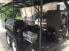 GrillBillies Barbecue can design a custom BBQ trailer with just about any component. With our large selection of Meadow Creek barbecue equipment we can design t Bbq Grill, Barbecue, Bbq Smoker Trailer, Custom Bbq Pits, Offset Smoker, Custom Trailers, Can Design, Food Truck, Smokers