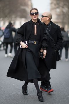 Olivia Palermo seen before the Dior Fashion Show in the streets of Paris on March 3 2017 in Paris France
