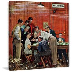 Marmont Hill Jury by Norman Rockwell Painting Print on Canvas, Size: 32 inch x 32 inch, Multicolor