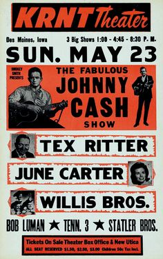 Johnny Cash show poster Tour Posters, Band Posters, Theatre Posters, Event Posters, Theater, Movie Posters, Vintage Concert Posters, Vintage Posters, Retro Posters
