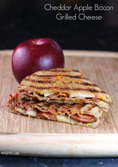 This Cheddar Apple Bacon Grilled Cheese combines sharp, salty, sweet and smoky flavors into comfort food you'll love. Just over 300 calories
