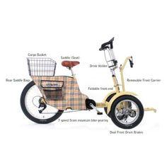 Sport Vehicle: Turf Trike Sport Golf Course Bicycle Alternative Golf Caddy / Cart