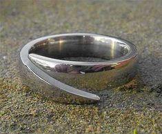 Unique Titanium Wedding Ring | LOVE2HAVE in the UK! Titanium Engagement Rings, Titanium Wedding Rings, Titanium Rings, Split Design, About Uk, Unique Weddings, Jewelry Rings, Rings For Men, Jewelry Making