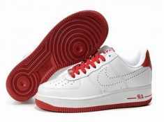 cc832ff090a1c5 Mens Nike Air Force 1 25th Low Shoes White Dark Red Denmark