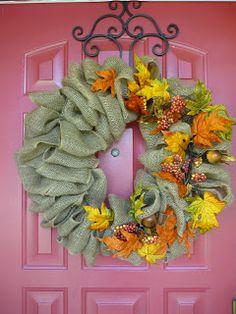 How Do You Do, Vicki Sue?: How do you...make a burlap wreath?