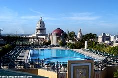 Rooftop pool at Parque Central