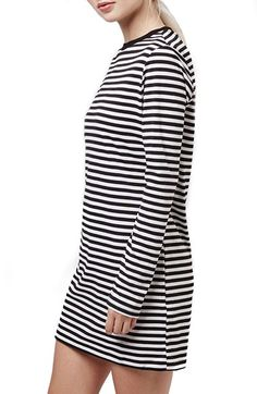 Topshop Stripe Long Sleeve Tunic Dress available at #Nordstrom