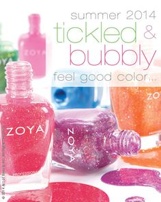 Zoya Tickled and Bubbly - Summer 14 Nail Polish color. Available on http://www.zoya.com