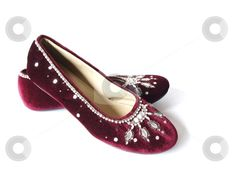 burgundy flat shoes