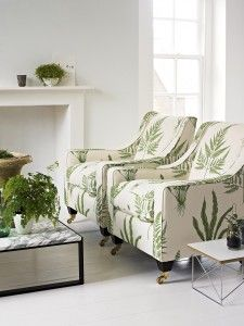 Sanderson Woodland Ferns fabric for upholstery, curtains & other soft furnishings. You can almost smell the outdoors.