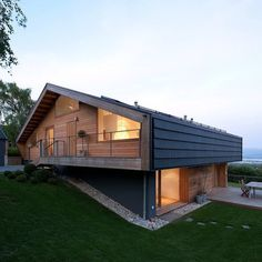 Wooden House Design, Wooden Houses, Modern Wooden House, Cob Houses, Small Houses, Architecture Résidentielle, Sustainable Architecture, Chalet Design, Chalet Style