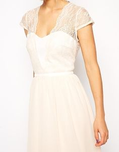 Enlarge ASOS Lace Scalloped Midi Dress