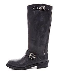 GOLDEN GOOSE SCHUHE DAMEN STIEFEL G29WS085.A8 BIKER-H COL SCHWARZ BLACK WOMEN, Schuhgröße:EUR 37 - Stiefel für frauen (*Partner-Link)