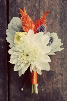 For the moms, Dahlia pin-on :: photo by Love Me Do Photography