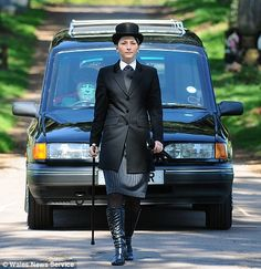 Pictured: Britain's youngest woman funeral director who is deadly serious about her career