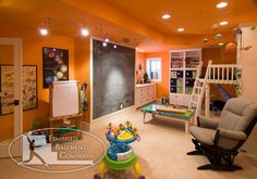 Kids play area in the basement