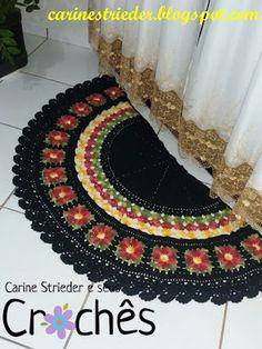 Carine Strieder e seus Crochês: Tapetes de Crochê com Flores
