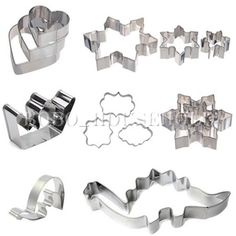 Love the snowflake cutters. Set Stainless Steel Cake Fondant Biscuit Pastry Cookie Cutter Mold Baking Tool