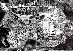 Nottingham 1744 Nottingham Map, Caves, Family History, Old Photos, Past, Black And White, Creative, Photography, Old Pictures