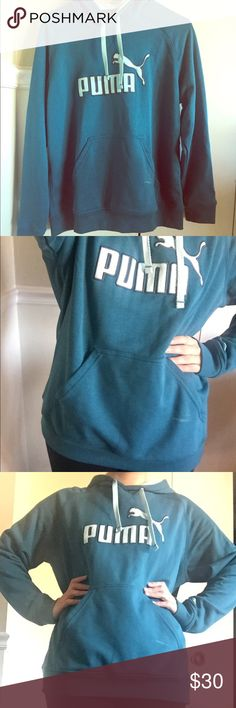 Blue Coral No.1 Puma Logo Hoodie Hello ~ I'm selling this puma hoodie. It's in a great condition, I've only worn it twice. Size is XL, it could be worn as a cute oversized hoodie. Puma Tops Sweatshirts & Hoodies