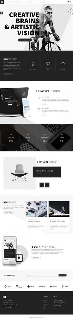 Theme for creative web design inspiration 2016 #creativewebdesignlayout