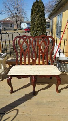 Upcycled Chair Benches