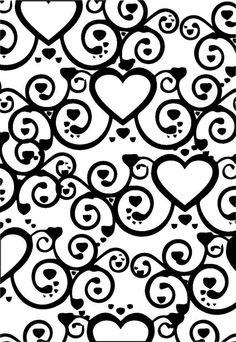 Imagens para Películas de unhas: Renda Preta - Coração