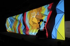 Backlit Projection onto Faceted Display Wall