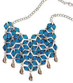 Extra fabulous with this blue stained glass necklace from Blue Moon Beads