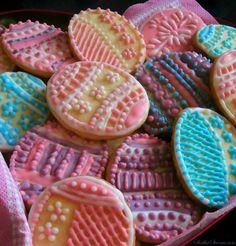 Wielkanocne Migdałowe Kruche Ciasteczka - Przepis - Słodka Strona Easter Treats, Food And Drink, Sugar, Meals, Cookies, Lent, Powder, Google, Candy