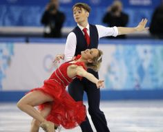 DAY 10:  Pernelle Carron and Lloyd Jones of France compete during Figure Skating Ice Dancing Short Program http://sports.yahoo.com/olympics