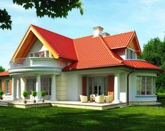 New apartment modern exterior house plans Ideas Bungalow Haus Design, Modern Bungalow House, Duplex House Plans, Dream House Plans, Small House Design, Modern House Design, Style At Home, Village House Design, Small Modern Home