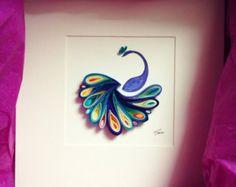 Arte de papel tubulares: pluma por SenaRuna en Etsy