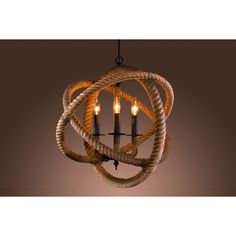 Warehouse of Tiffany's Rope Enclosed 3-light Chandelier - Overstock™ Shopping - Great Deals on Warehouse of Tiffany Chandeliers & Pendants