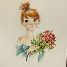 Картинки по запросу  girl flower illustration tumblr