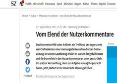 Nutzerkommentare auf Nachrichtenseiten stehen zunehmend in der Kritik. Eine Studie der Universität Hohenheim zeigt jetzt: Kommentare verschlechtern auch die wahrgenommene Qualität von Nachrichten. Economics, Messages, You're Welcome, Politics, Deutsch, Knowledge