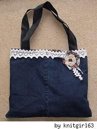 Make a denim purse from old jeans